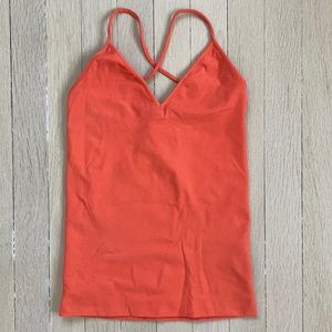Theory Cross-back Tank, Coral
